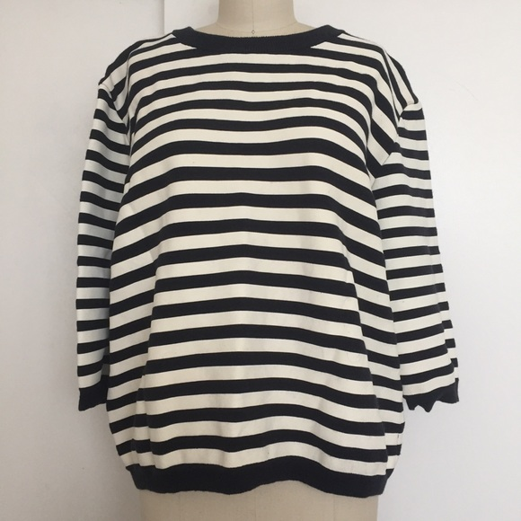 32db79a525c8 COS Sweaters   Black And White Stripe Pullover Sweater   Poshmark